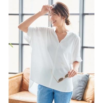 シャツ ブラウス [ UVカット+接触冷感+吸水速乾 ]スキッパードルマンシャツ