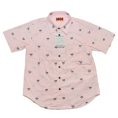 WEIRDO SEXY COMIC - SHORT SLEEVE SHIRTS (PINK) ウィアード 総柄 半袖 シャツ/GLADHAND