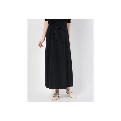 リネーム Rename リボンベルトデザインラップスカート (ブラック)