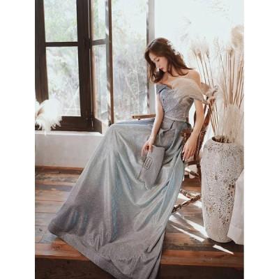 パーティードレス ロングドレス 二次会ドレス Aライン カラードレス イブニングドレス 大きいサイズ 演奏会 お花嫁ドレス 姫系 結婚式 ウェディングドレス