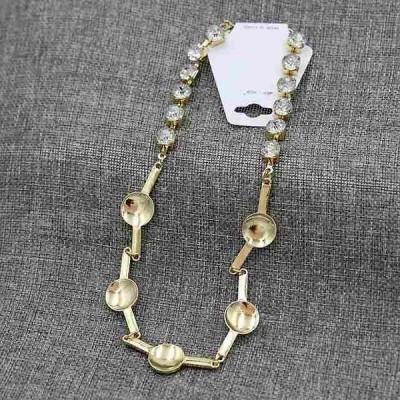 Ydgy 新シャイニーラインストーンロック骨 チェーン 凹型メタル ネックレス 女神 アクセサリー ネックレス メンズ レデ
