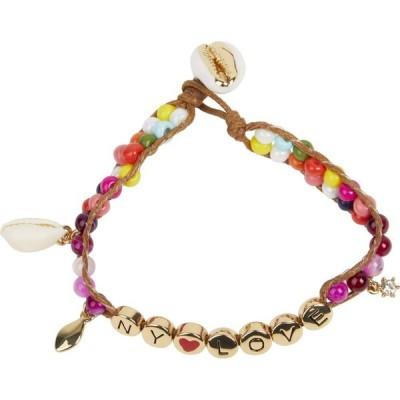 レベッカ ミンコフ Rebecca Minkoff レディース ブレスレット ジュエリー・アクセサリー NY Love Beaded Bracelet Gold/Pink