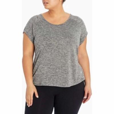 マリカ Marika レディース Tシャツ 大きいサイズ トップス Plus Size Huntington Tee Heather Black