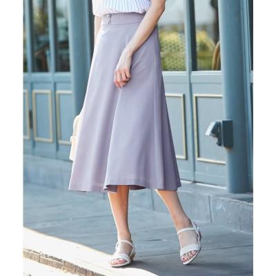 any SiS 【洗える】フェミニンマチフレア スカート (ラベンダー)