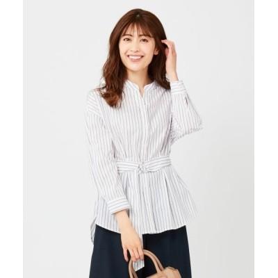 any SiS/エニィスィス 【Dカンベルト付き】2WAYシャツ ブラウス オフ×ライトブラウン 1