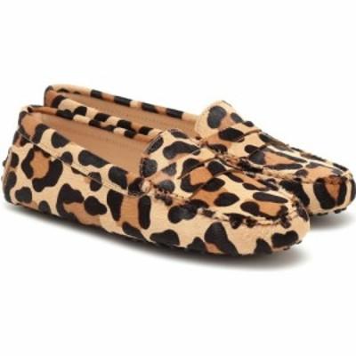 トッズ Tods レディース ローファー・オックスフォード シューズ・靴 Gommino calf-hair loafers Cammello