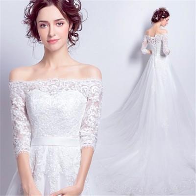 ロングドレス 演奏会 パーティードレス 結婚式 ドレス ウェディングドレス 花嫁 パーティドレス ロング 二次会 ドレス お呼ばれ ピアノ 発表会 ホワイト 白色