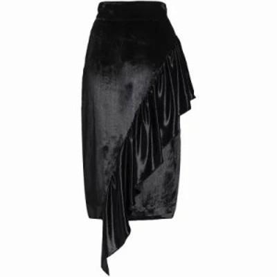 ミリー その他スカート Angelina asymmetric ruffled velvet skirt Black