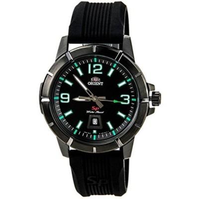 オリエント Orient 腕時計 時計 ORIENT MEN'S SPORTY 43MM RUBBER BAND IP STEEL CASE QUARTZ WATCH FUNE9008B