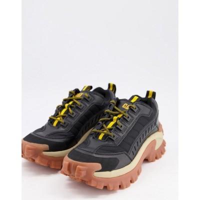 キャットフットウェア Cat Footwear メンズ スニーカー シューズ・靴 CAT intruder trainers in black with gum sole ブラック