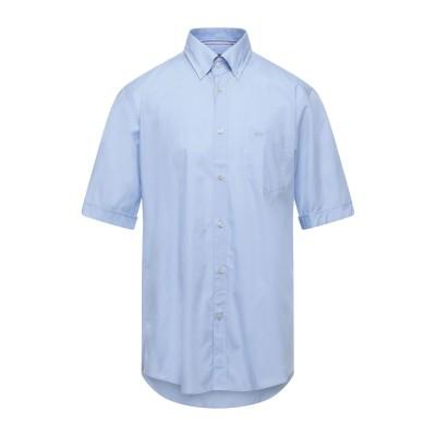ポール・アンド・シャーク PAUL & SHARK シャツ スカイブルー 48 コットン 100% シャツ