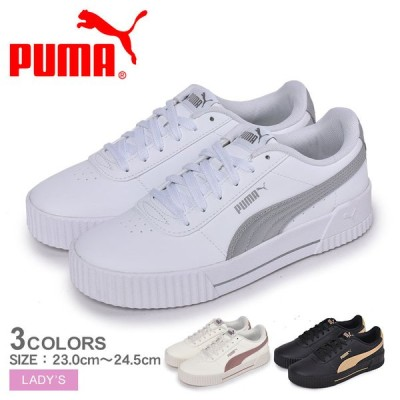 プーマ スニーカー レディース キャリーナメタル20 PUMA 373229 ブラック 黒 ホワイト 白 シルバー 靴 シューズ 運動 スポーツ