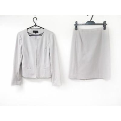 アンタイトル UNTITLED スカートスーツ サイズ2 M レディース 美品 - グレーベージュ【還元祭対象】【中古】20200520