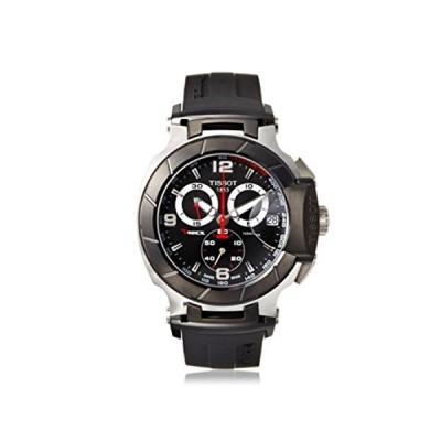 ティソ Tissot 腕時計 メンズ 時計 Tissot Men's T-Race Black Chronograph Dial