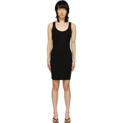 ジョン エリオット John Elliott レディース ワンピース ワンピース・ドレス Black Cotton Rib Dress Black
