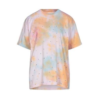セミクチュール SEMICOUTURE T シャツ ライトピンク one size コットン 100% T シャツ