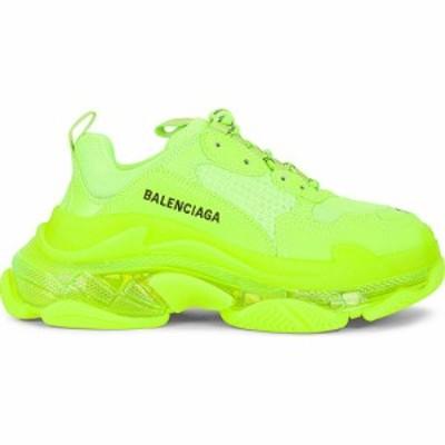 バレンシアガ Balenciaga レディース スニーカー シューズ・靴 triple s clear sole sneakers Fluo Yellow