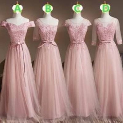 ドレス ワンピース ロング丈 レース 20代 上品 大人可愛い ガーリー ブライズメイド 春夏 結婚式 お呼ばれ a580