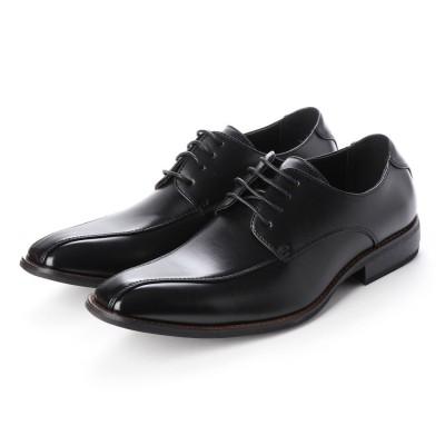 トウキョウブラザー TOKYO BROTHER メンズ ビジネスシューズ 紳士靴 ドレスシューズ 防滑 スワローモカ 外羽根 (ブラック)