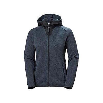 特別価格Helly-Hansen Womens Varde Knitted Hooded Fleece Jacket, 983 Slate, X-Large好評販売中