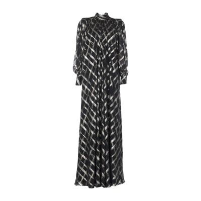 アルベルタ フェレッティ ALBERTA FERRETTI ロングワンピース&ドレス ブラック 42 アセテート 84% / シルク 10% / ポ