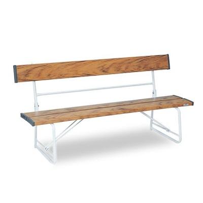 テラモト ベンチ 背付1500 木調 BC-300-015-9