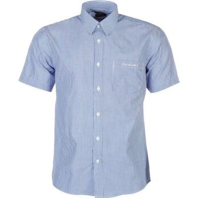 ピエール カルダン Pierre Cardin メンズ 半袖シャツ トップス Short Sleeve Shirt Blue/Wht Stripe