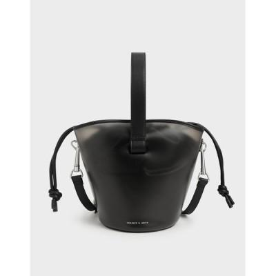 ショルダーバッグ バッグ シースルーエフェクト バケツバッグ / See-Through Effect Bucket Bag