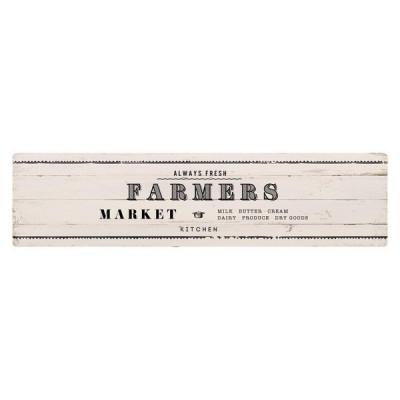 ベストコ ND-9864 ファーマーズマーケット ホワイト さらっと拭ける!ぷにぷにキッチンマット(45×180cm)