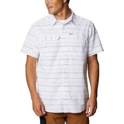 コロンビア メンズ シャツ トップス Columbia Men's Silver Ridge SS Seersucker Shirt White Stripe