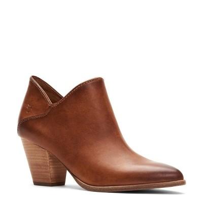 フライ レディース ブーツ&レインブーツ シューズ Reed Leather Block Heel Western Booties Caramel