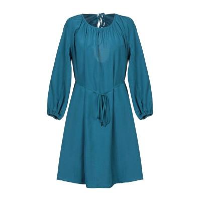 FISICO ミニワンピース&ドレス ディープジェード S シルク 52% / コットン 48% ミニワンピース&ドレス