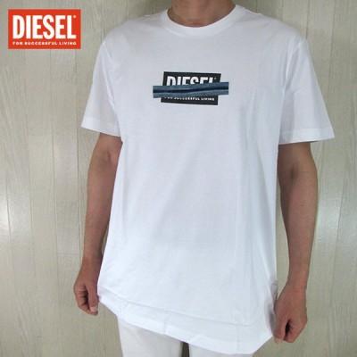 ディーゼル DIESEL メンズ 半袖 カットソー Tシャツ T-DIEGOS-X40/100/ ホワイト 白 サイズ:XL
