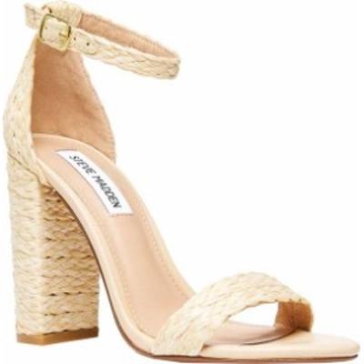 スティーブ マデン レディース サンダル シューズ Women's Steve Madden Carrson Ankle Strap Sandal Natural Raffia Synthetic