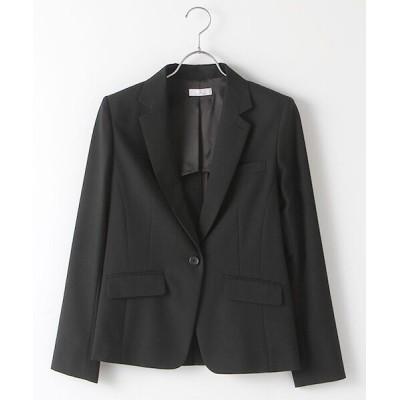 SUIT CLOSET/スーツクローゼット 定番スーツ 無地1つボタンジャケット 黒 40