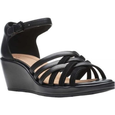 クラークス Clarks レディース サンダル・ミュール ウェッジソール シューズ・靴 Un Plaza Vibe Wedge Sandal Black Combination