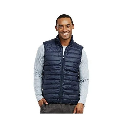 ET TU Men's Lightweight Puffer Vest (M, Navy)(並行輸入品)