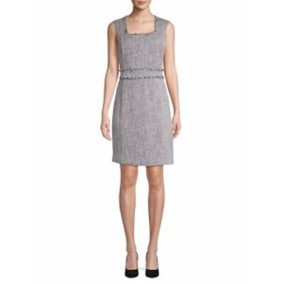 カールラガーフェルドパリ レディース ワンピース Fringed Cotton Tweed Shift Dress