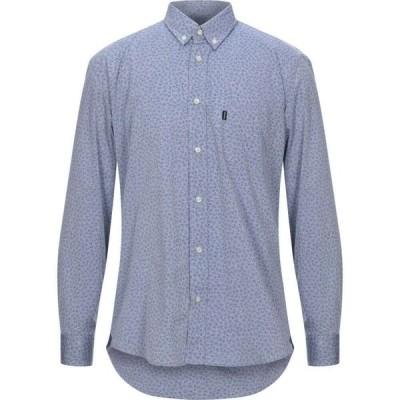 バブアー BARBOUR メンズ シャツ トップス patterned shirt Slate blue