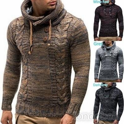 秋冬新品 ニットセーター メンズ 長袖 トップス タートルネック セーター カジュアル 紳士用 プルオーバー 厚手 暖かい 大きいサイズ 30代 40代 ファッション