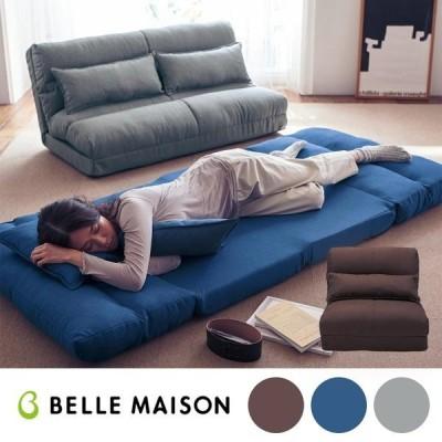 ソファーベッド ソファー ベッド おしゃれ 安い サイズが選べる クッション付き 14段階 リクライニング 日本製 ブラウン 60