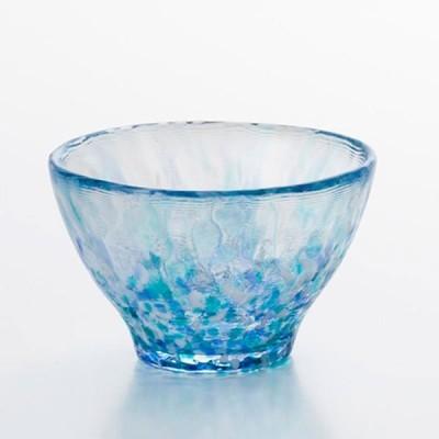 津軽 ビードロ 盃(さかずき) |津軽びいどろ 盃コレクション 盃 あじさい ( 日本酒 焼酎グラス ) F-49783
