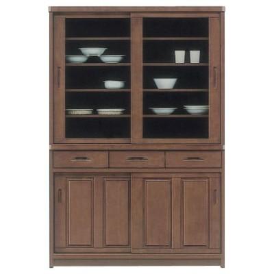 食器棚 完成品 和風 引き戸 幅120cm 開梱設置付き