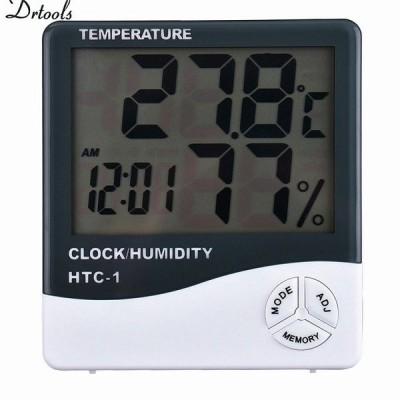 湿度 Mete 液晶 デジタル HTC-1 温度楽器温度計湿度計温湿度計 時計 GT056
