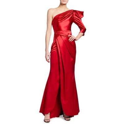 タルボールホフ レディース ワンピース トップス Crepe Satin One-Shoulder Gown