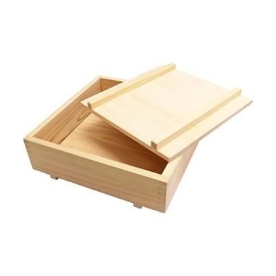 市原木工所-押し寿司型-ヒノキ-押し寿司器-30×30×8-5cm