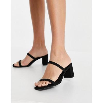 ニュールック New Look レディース サンダル・ミュール シューズ・靴 Strappy Block Heeled Sandal In Black ブラック