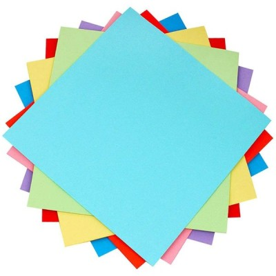 手作りの工芸品プロジェクト用の両面折り紙紙色のペープ、100PCS 10x10cm