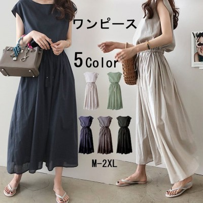 文芸大振子スカート2020夏の新型は腰のゆったりした大きいサイズの綿麻のワンピースを収めることができます。