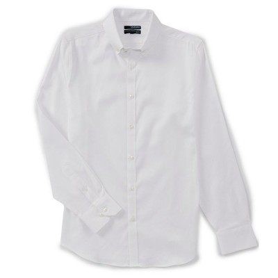 ムラノ メンズ シャツ トップス Wardrobe Essentials Slim-Fit Solid Twill Long-Sleeve Woven Shirt White